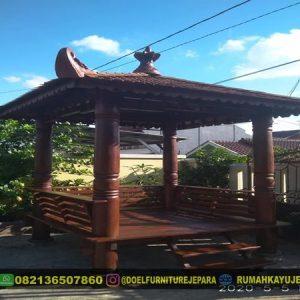 gazebo kayu kelapa minimalis