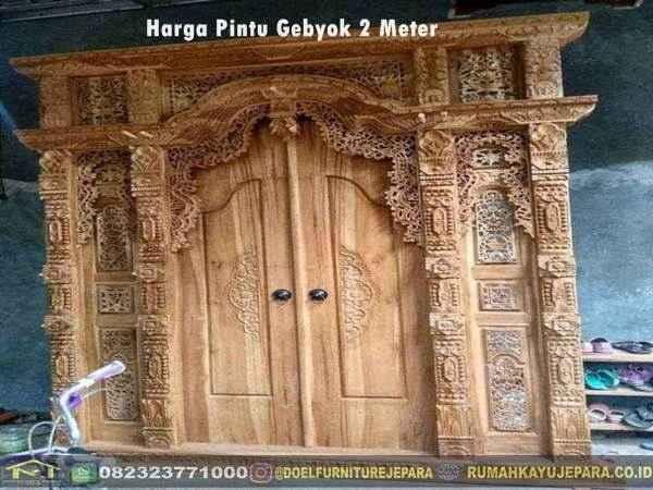 harga pintu gebyok 2 meter