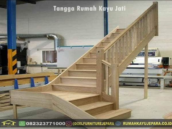tangga rumah kayu jati